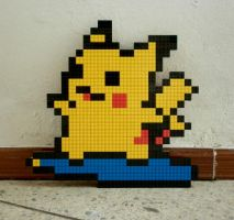 LEGO: Surfing Pikachu_2 by Meufer