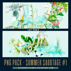 Summer Sabotage PNG Pack 01 by Sativa by Rainbowepidemic