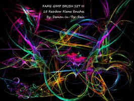 Flame-Glow Gimp Brushes-Set III by Demon-in-the-rain