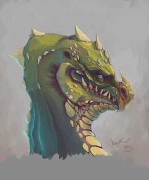 Mr. Green Dragon by Bagetto