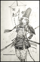 Tomoe Gozen of Japan, 1180 AD - Women War Queens by Gambargin