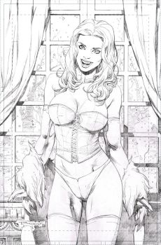 Emma Frost - pencil commission