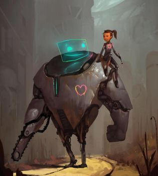 a girl on bot by norbyscook
