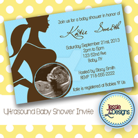 Custom Baby Shower Invite with Ultrasound picture by Jesarie