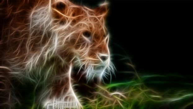 Fractal Lion #03 by FenrisOswin