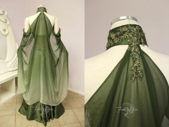 Elven Bridal Gown Back View by Firefly-Path