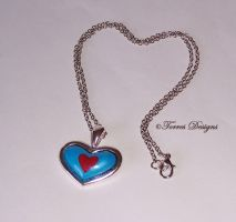 Custom made Heart Piece Container Necklace ZELDA by TorresDesigns