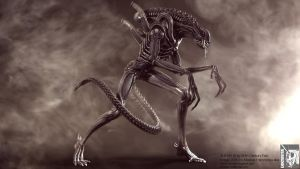 Aliens warrior cg shot III by locusta