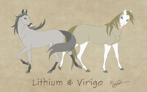Lithium and Verigo - Commission by KayFedewa
