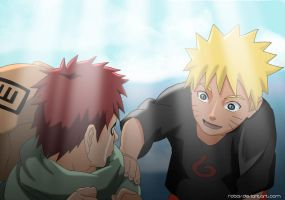 Naruto and Gaara:Don't cry by RobCV