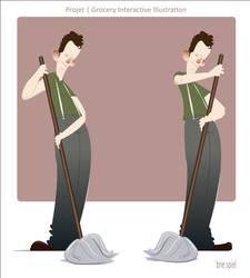 Character Design : The Mopper by BrieSpiel