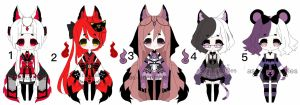 kemonomimi adoptable batch  OPEN PRICE LOWERED 1/5 by AS-Adoptables