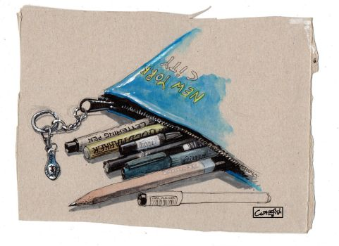 Pencil Case by m99art