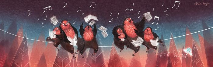 The Singing Robins by Dferous