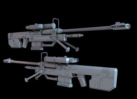 Halo 3 Sniper Rifle by martynball