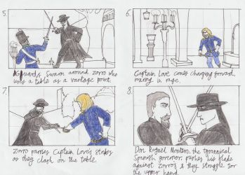 The Mask of Zorro storyboard 2 by toht981
