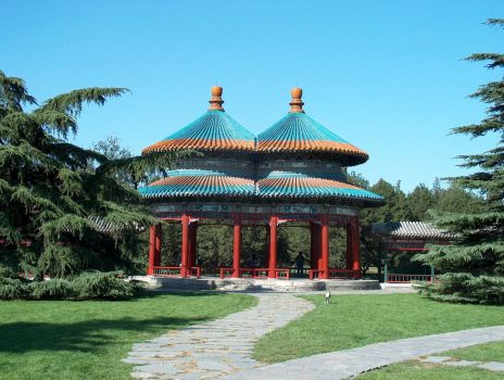 Twin Pagoda in Tiantan park by FameWolf