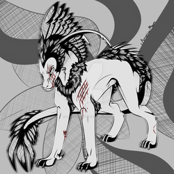 Gore/Inktober - Day Three: Battle Wounds by AmnesiaMoons