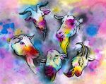 psychedelic goats by Nikapear