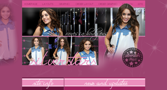 Past layout with Vanessa Hudgens by silverstars-graphic