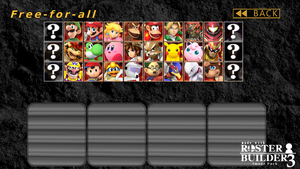 Roster Builder 3 Sample - Classic (Smash 64) Style by ConnorRentz