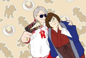 Bless this katsudon! 2 by Peach-8D