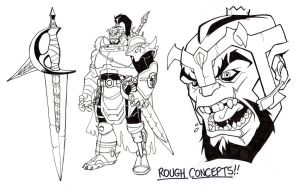 BOLPHUNGA THE UNRELENTING Concept Sketch by Jerome-K-Moore