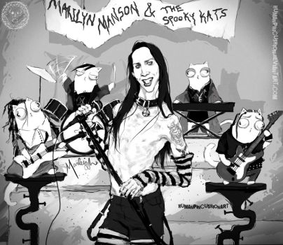 Marilyn Manson and The Spooky Kats by HumanPinCushion