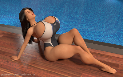 Vanessa - Poolside lounging by colortwist