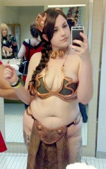 Chubby Slave Leia Selfie by SailorsMouth