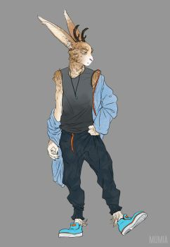 Anthro-rabbit for Kuro v.1 by Mumium