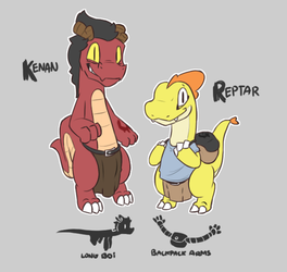 Kenan and Reptar Ref by LeoTheLionel