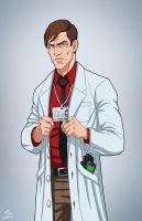 Dr. Simon Hurt (Earth-27) commission by phil-cho