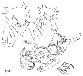 COMMIS: Misty and Haunter by Azulla-00