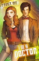 DOCTOR WHO and Amy Pond by grantgoboom