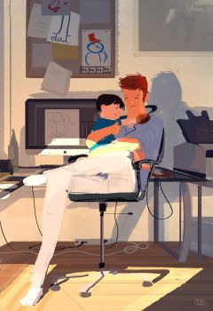 Even Daddies need a hug. by PascalCampion