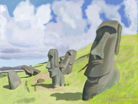 easter island by nastyfella