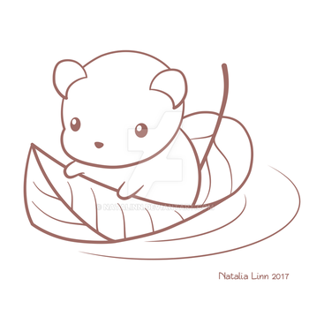 Mouse on a leaf by natalinn