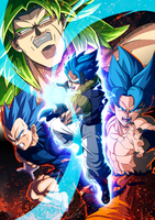 Dragon Ball Super Broly poster by limandao