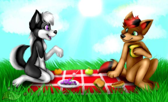 Ashie And Basil [commission] by fluffythefurrie