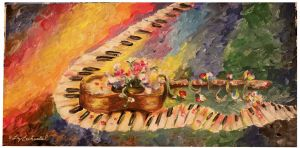 Music -Timelaps Painting by Lizbeth-Lund