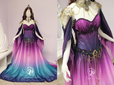 Twilight Lily Gown Details by Firefly-Path