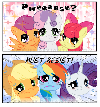 Irressistable Cutie Mark Crusaders! Comic Commish by YamPuff