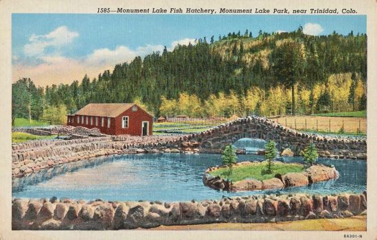 Vintage Colorado - Monument Lake Fish Hatchery by Yesterdays-Paper
