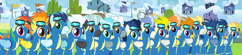 Wonderbolts Vector Set by MLP-Silver-Quill