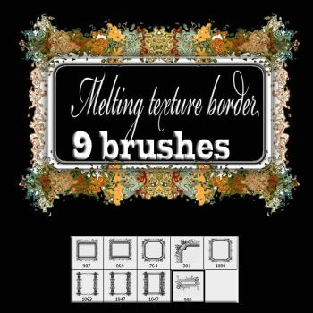 Melting texture- border brush by designersbrush