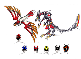 Power Rangers: Valor Strike concepts by KyuubiNight