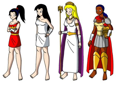 The Amazons of Themyscira by streetgals9000