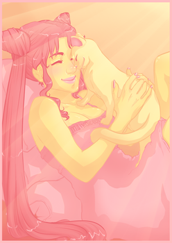 Chibiusa and Diana by Melolontha2