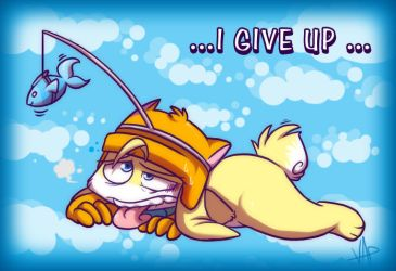 Never give up by vaporotem
